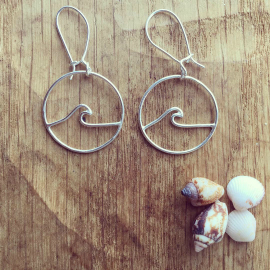 Porth logo earrings