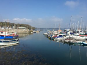 Mylor harbour with boats on a sunny day!