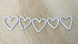 Heather's commissioned bangle - completed hearts