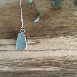 Pale aqua necklace.