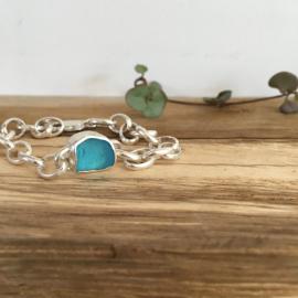 Electric turquoise bracelet.