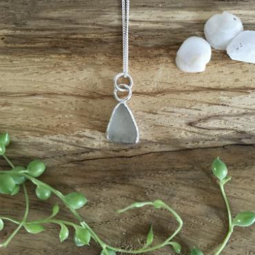 White Seaglass Necklace - Gyllyngvase