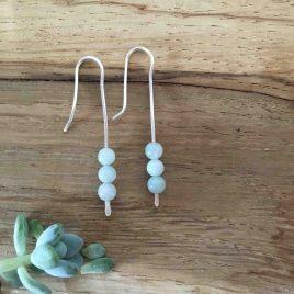 Amazonite Silver Drop Earring
