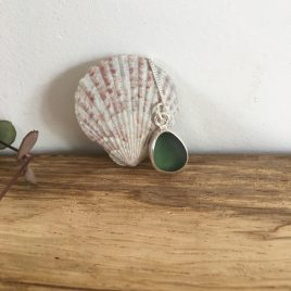 Forest Green Seaglass Necklace – Nansidwell Beach