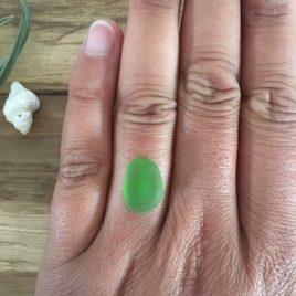 Moss Green Seaglass – custom ring order