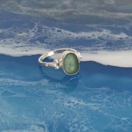 Barnacle Seaglass Ring – Gyllyngvase – Size O