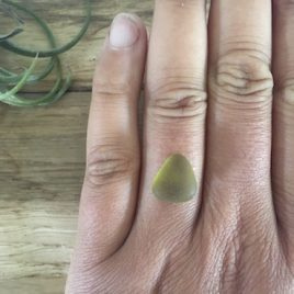 Olive/Khaki seaglass for custom ring order