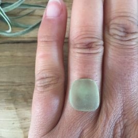 Pale Olive Green Statement custom ring