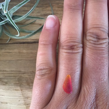 Red flame custom ring