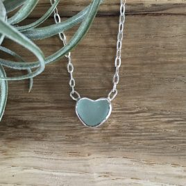 Seafoam green heart chain