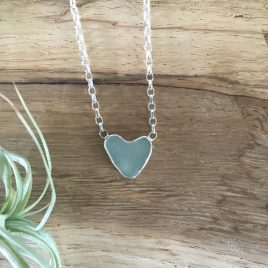 St Mawes seaglass heart chain