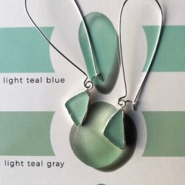 Light Teal Seaglass Drop earrings