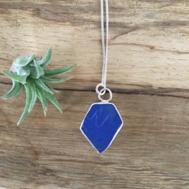 Cobalt Blue Seaglass Necklace - Greenbank Falmouth