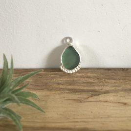 Light Jade Green Seaglass Boho Necklace