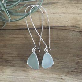Seafoam Green Seaglass drop earrings