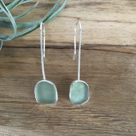 Seaglass earrings Falmouth Bay