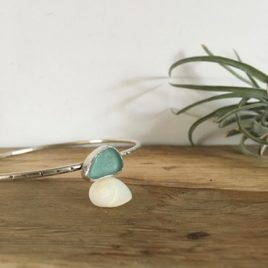 Light Teal Blue Bangle- Roseland