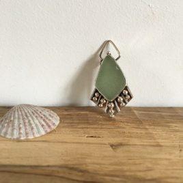 Pale Sage Green Boho Necklace - Swanpool