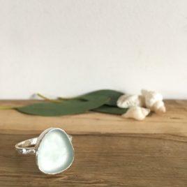 Seafoam Green Seaglass Ring - Grebe
