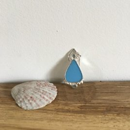 Sky blue boho milk-seaglass - Swanpool