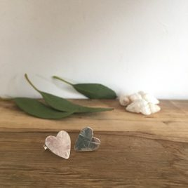 Heart sunbeam studs