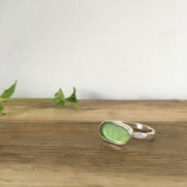 Moss Green Seaglass Ring - Swanpool