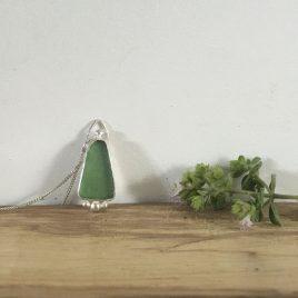 Soft Green Boho Necklace - Carlyon Bay